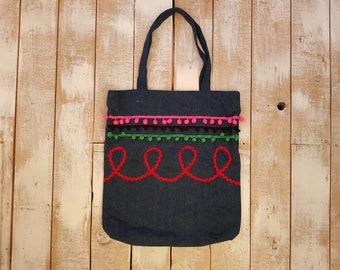 Mexican fiesta tote bag rockabilly pin up