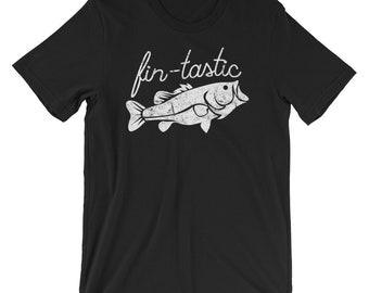 Fin-Tastic Shirt, Funny Bass Fishing, Fantastic Bass Fish, Large Mouth Bass Fish, Bass Fish TShirt, Bass Fishing Shirt Gift, Fantastic
