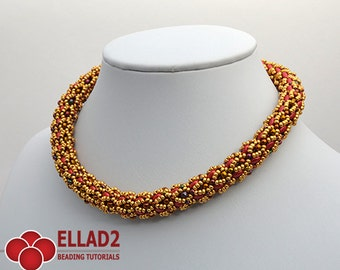 Tutorial Infinity Necklace - Beading Pattern, Beading Tutorial, Instant download