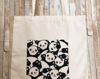 Panda Reusable Eco Friendly Tote Carry Bag