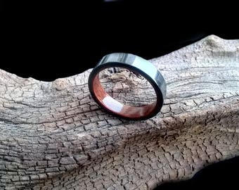 Carbon mahogany Bentwood wood ring High Gloss