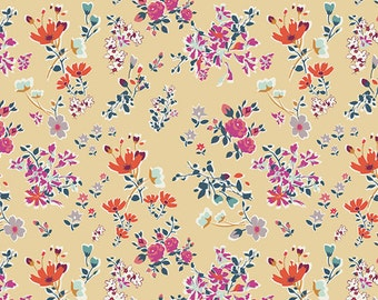 Cottagely Posy - Boho Fusions - Katy Jones - Art Gallery Fabric 100% Quilters Cotton FUS-B-202