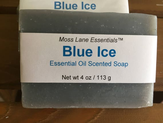 Minty, Refreshing Blue Ice Cold Process Soap with Shea Butter