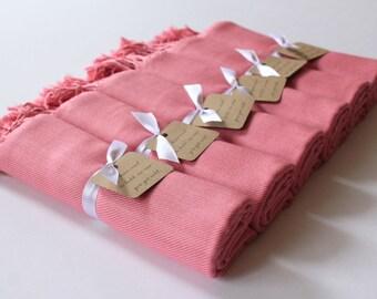 DUSTY ROSE Set of 6 - 6 Dusty Rose Shawls - Dusty Rose Pashminas - Bridesmaid Shawls Pink - Shawls Dusty Rose - Personalized Pashminas