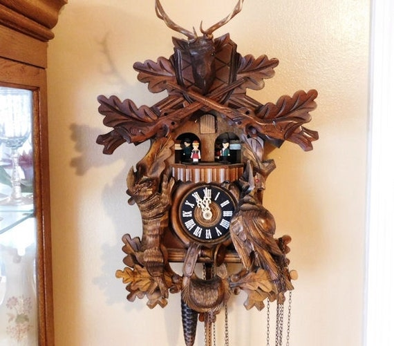 Black Forest Cuckoo Clock / Deer Hunter /Rabbit / Pheasant / Carousel Dancers