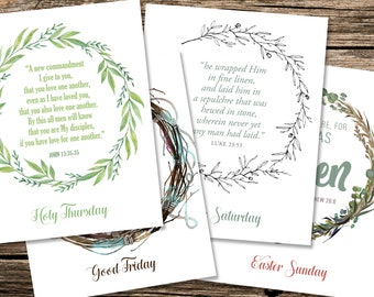 Paschal Triduum and Easter Sunday Wreath Printables