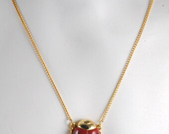 Vintage Small Good Luck RED Ladybug Pendant 1960s