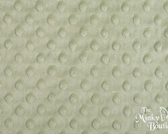Minky Dot Fabric - Light Sage