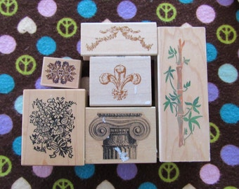 Set of 6 Rubber Stamps-Accent Designs