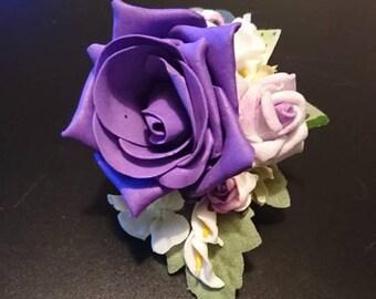 Purple Rose Wrist/Lapel/Handbag Ladies Corsage