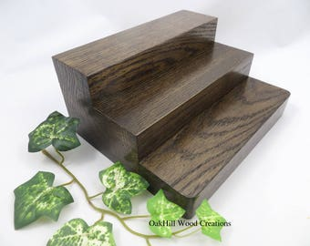 Display Products Stand, 3 Tier Stand, Oak Wood, Craft Show Display, Countertop Display, Store Display, Trade Show Booth, Pantry Shelves