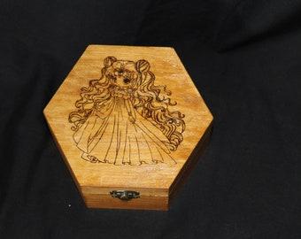 Sailor Moon pyrography box