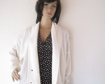 True 60s vintage cardigan Heinzelmann cotton oversize
