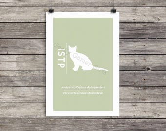 """ISTP Minimalist Poster   Myers Briggs Poster   Personality Type Poster 11x17   """"The Virtuoso"""""""