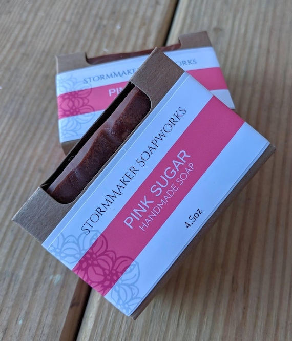 Pink Sugar, Handmade Soap, Palm Free