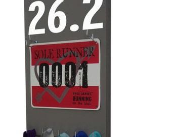 Marathon race bib display, 26.2 marathons race distance, gifts for runners - marathoners