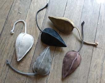 Set of 5 catnip leather mouse cat toy, multi-color. Repurposed suede filled with natural catnip.