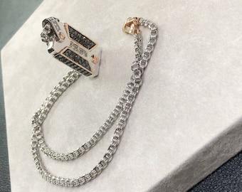 Necklace Zancan Gold Diamonds New Edition limited man Gomorrah