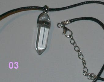 Amulet rock crystal in the form of Crystal polished polliert gem mineral B001