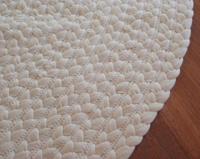 """All Natural Organic Cotton Rug 60"""" round"""