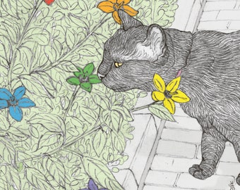 Cats pride magnet -  featuring Rafi, the famous Israeli cat from Ha'aretz Newspaper Comics