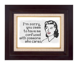 cross stitch pattern someone who cares  pdf retro woman
