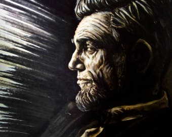 Abraham Lincoln drawing a3 markers