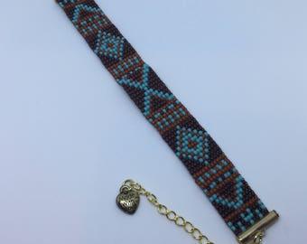 Fall colors bracelet
