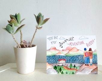 Adventure Buddy Greeting Card