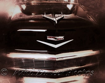 Vintage Chevy - 1956 Chevy Bel Air - Fine Art Photo - 11 x 14 Matted Photo - Classic Car - Retro - Grunge - Americana - Gift for Men