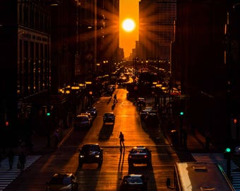Chicagohenge | Chicago Photography | Affordable Wall Art | Gift | Chicago | Sunset | Art and Collectables | Fine art photography