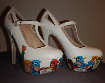 Captain America comic shoes