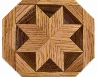 oak-Walnut Trivet