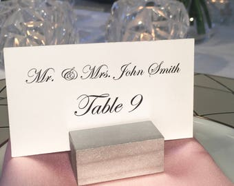 Wedding Place Card Holder - Silver Place Card Holder - Silver Wedding Place Card Holders (Set of 100) ON SALE