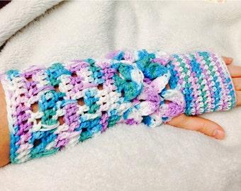 Crocheted arm warmers
