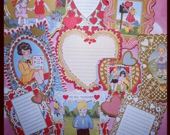 Ephemera Pack, Victorian Valentines, Vintage Style Ephemera Pack die cut accents