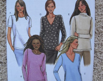 UNCUT Misses'/Misses' Petite Top - Size 16 to 22 - Butterick Sewing Pattern B4290