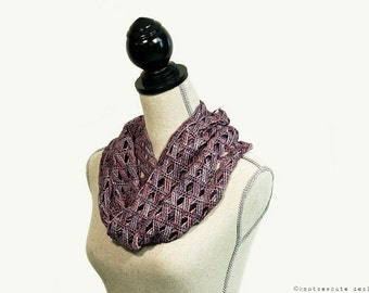 CROCHET PATTERN - Cascading Cables Cowl - Instant Download (PDF)