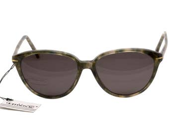 Versace sunglasses, made in Italy in the 80s. Vintage cat eye sunglasses / Vintage glasses frames / Olive Green or Blue tortoise glasses