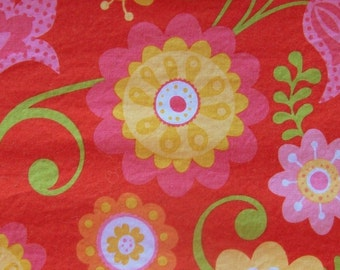 SALE - Red Floral 100% Cotton Fabric by Riley Blake Designs - 1/2 Yard                                            2016