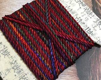 Jewellery cord string hand dyed 2 ply Twisted Rayon with a beautiful drape and lustre.