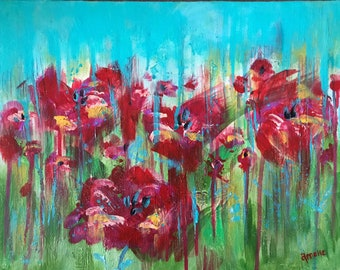 Poppy Pastures original artwork