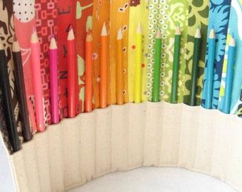 SALE - Rainbow Pencil Roll - 20 pencils included