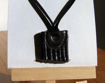 Ceramic Focal Pendant - False Glyph XXVIII - Hand Made