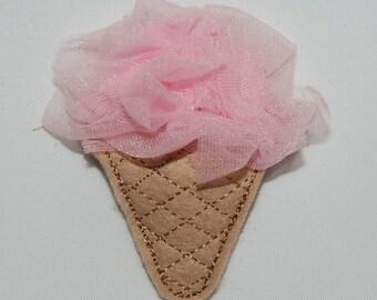 Wool Felt Fluffy Ice Cream Clip by Chic Baby Rose