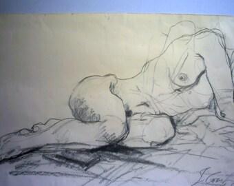 Drawing, Sleeping girl