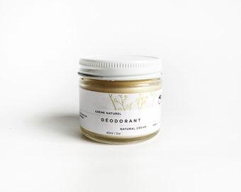 Cream Deodorant. 100% Natural. 2 oz. Aluminum free Deodorant. Natural Deodorant. Organic Body Care. Palmarosa + Sweet Orange