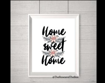 Home Sweet Home - A5/A4 Graphic Quote Typography Print