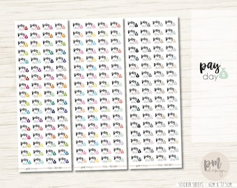 Pay Day Stickers - Planner Stickers - FS16