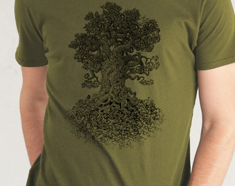 Nature Lover Gift - Tree Shirt - Nature Shirt -  Men's Tshirt - Men's Gift - Graphic Tee - Enchanted Forest